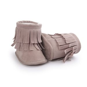 Other - Tan Boho Fringe Baby Booties